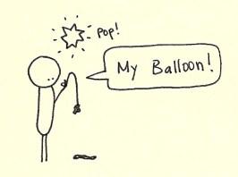 Popped balloon